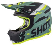 SHOT 2019 Score Kaki Neon Yellow Matt Motocross Helmet